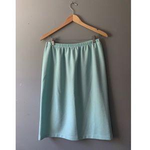 Light Blue Textured Skirt
